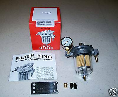 Malpassi Filter King Fuel Pressure Regulator & Gauge CLEAR GLASS BOWL, FAST SHIP