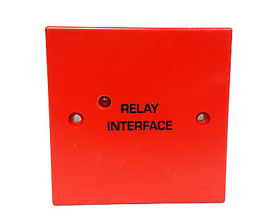 Fire Alarm - Auxiliary Relay / Interface -  24V DPCO 230V AC 8A contacts - RED