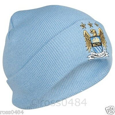 Manchester City FC Sky Blue Hat OFFICIAL Crest Gift