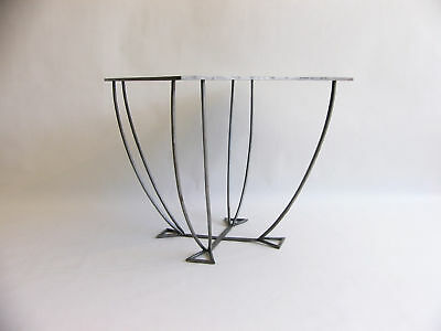 Art Deco Galvanized Sheet and Tubular Steel Table / Industrial Style
