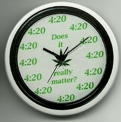 """4:20 Clock -Does It Really Matter? - Button  - 2 1/4"""""""
