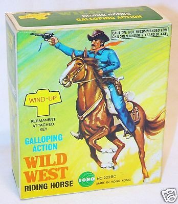 Echo Toys Hong Kong The Lone Ranger Wind-Up Figure MIB!