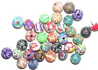 BEAD/BEADS Lot of 25 Polymer Clay INTRICATE DESIGNS