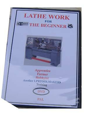 LATHE WORK FOR THE BEGINNER DVD easy to follow demo using a lathe