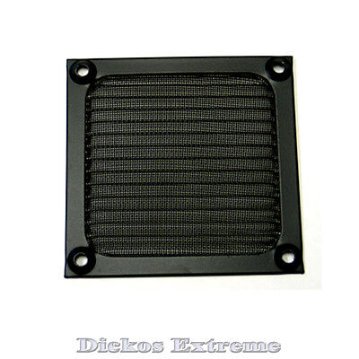 92mm Aluminium fan filter / finger guard - Black