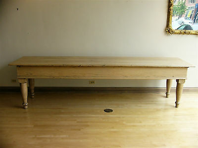 19th Century Solid White Oak Dry Goods / Display Table / Farmhouse Style