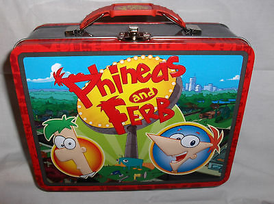Phineds & Ferb`Raised Graphics`Metal Lunchbox`NEW->Free To US