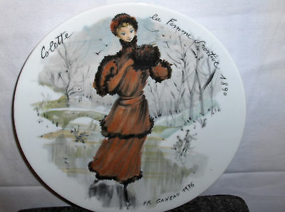 Colette-The Sportswoman--Limoges Porcelain 1976 Plate->Free To US