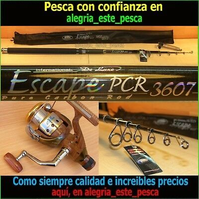 EQUIPO PESCA SPINNING - ESCAPE PCR 3.60mts + ROYAL 400R