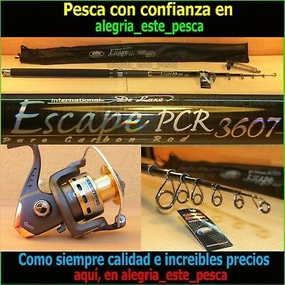 EQUIPO PESCA SPINNING- ESCAPE PCR 3.60mt + FOXER FD50