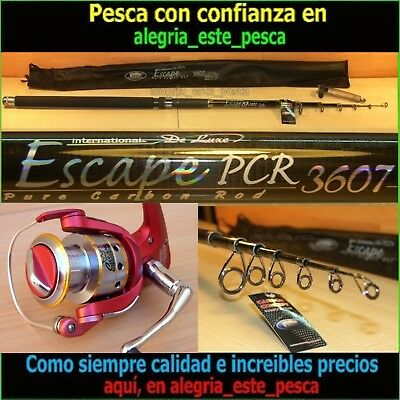 EQUIPO PESCA SPINNING- ESCAPE PCR 3.60mt + DEVIL II 60F