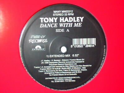 "TONY HADLEY Dance with me 12"" ITALY SPANDAU BALLET"
