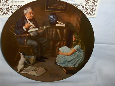 The Storyteller`8 Issue`Collectors Plate`Edwin knowles