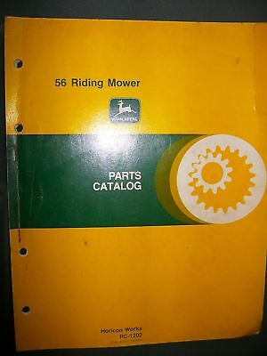 John Deere 56 Riding Mower 1979 : Parts Catalog