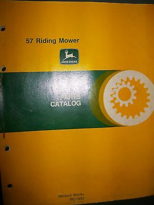 John Deere 57 Riding Mower 1979 : Parts Catalog