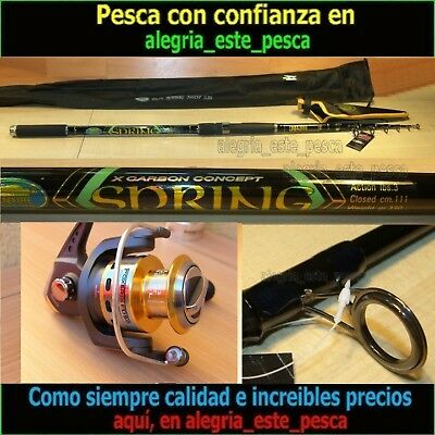 EQUIPO PESCA SPINNING SPRING 3.60mts + FOXER 50F