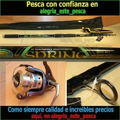 EQUIPO PESCA SPINNING SPRING 3.60mts + QUEEN 600