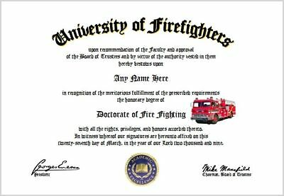 Fire Fighting Diploma - Firefighter Lover Diploma