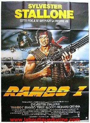 RAMBO Affiche Cinéma 160x120 Movie Poster SYLVESTER STALLONE Richard Crenna