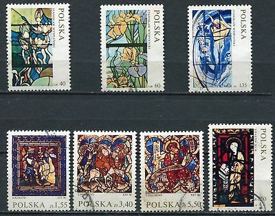 Lot Timbres Polska Vitreaux