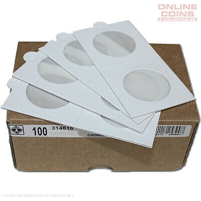 Lighthouse Self-Adhesive Coin Holders 39.5mm 100-pack - Suit Australian Crown