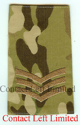 Pair of Official Crye Multicam MTP Sergeant RANK SLIDES