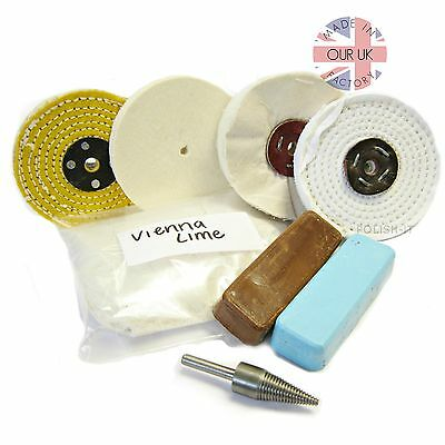 METAL POLISHING KIT 13 FOR NON-FERROUS METALS Mops and Polishing Compound