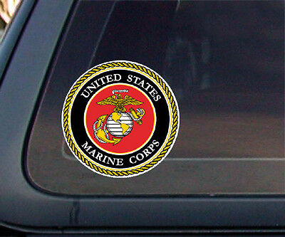 USMC : U.S. Marine Corps Seal Car Decal / Sticker