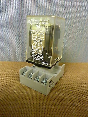 Magnecraft A314XBX48PL  Relay Coil 24VDC  with P&B base 27E891 (3667)