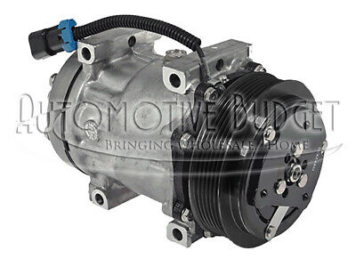 A/C Compressor w/Clutch for Sanden 4492, 4761 for Freightliner - NEW