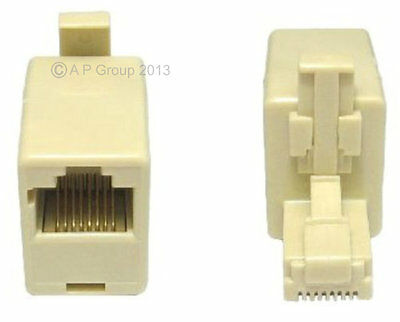 RJ45 Crossover Cat5e Network Ethernet Adaptor Converter male to female adapter