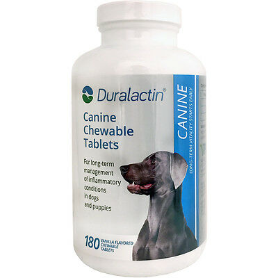 Duralactin Canine 1000mg 180ct Chewable Tabs for Dogs