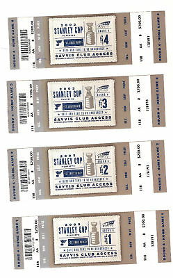 4 ST. LOUIS BLUES 2003 STANLEY CUP PHANTOM TICKETS