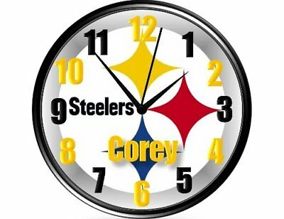 Pittsburgh Steelers Wall Clock-Personalized
