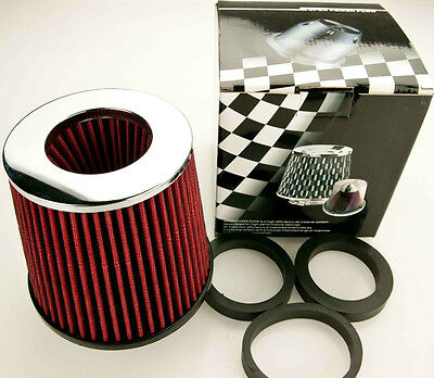 Universal High Power Cone Air Filter Red