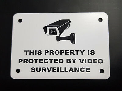 SECURITY WARNING SIGN - VIDEO SURVEILLANCE, CCTV- small