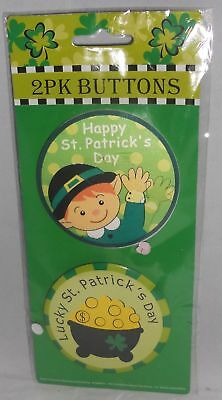 St. Patrick's Day Buttons  2 Pack