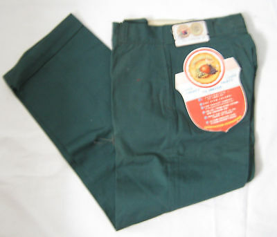 NOS VTG 50s 60s DEADSTOCK FotL CUFF CHINOS SAIL CLOTH PANTS 23x27 RAB WORK BOYS