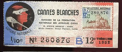 Billet Loterie Cannes Blanches Chateau