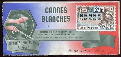 Billet Loterie Cannes Blanches Statue Gargouille
