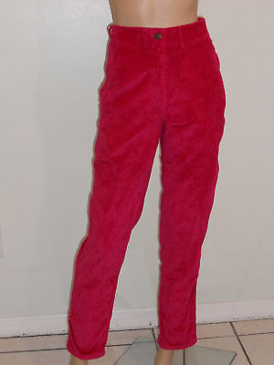 Vtg 80's New Wave Hot Pink Benetton Corduroy Pants S