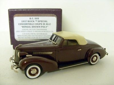 BROOKLIN 1/43 BC009 '37 BUICK SPECIAL CONV COUPE M 46C