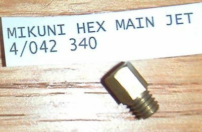 MIKUNI  MAIN JET 340  FOR HARLEY & OTHERS 4/042 340