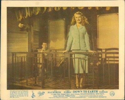 Down To Earth Rita Hayworth 1947 Original Lobby Card