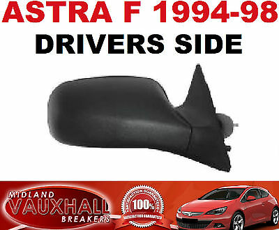 Vauxhall Astra F Mk3 Manual Lever Black Wing Door Mirror 1994-98 Rh Driver Side