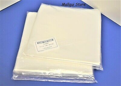 200 CLEAR 8 x 18 POLY BAGS PLASTIC LAY FLAT OPEN TOP PACKING ULINE BEST 1 MIL