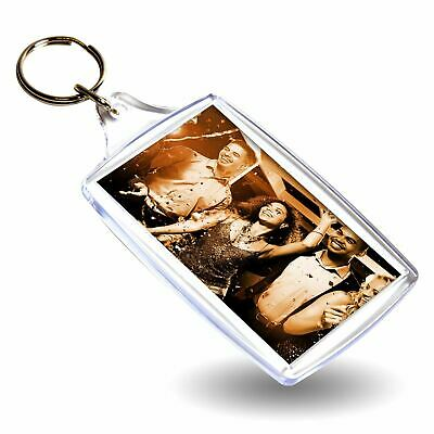 1 BLANK CLEAR EXTRA LARGE KEYRING 70mm x 45mm 70 45