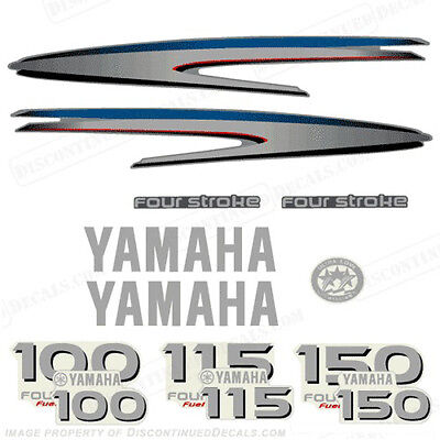 Yamaha 4-Stroke 100/115/150hp Outboard Decal Kit