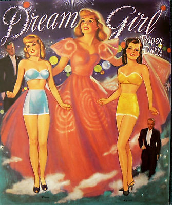 Dream Girl Paper Doll Book  Shackman pin-up
