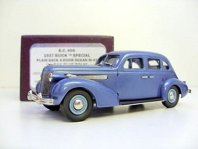 BROOKLIN 1/43 BC006 '37 BUICK SPECIAL 4-DR BLUE
